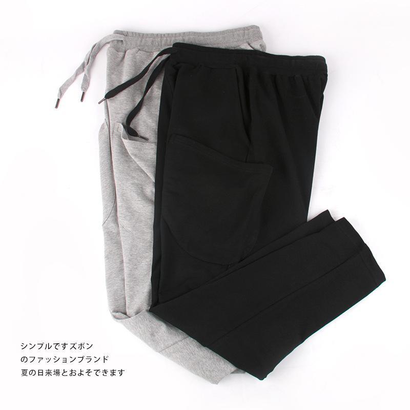 ETE специальная цена национальной моды случайные брюки мужские хлопка свободный большой размер карман дизайн прямые брюки осень