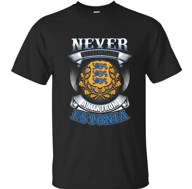 Erkekler Erkekler T Shirt Erkek Tee Gömlek Giyim için Estonya T-Shirt itibaren Yüksek Kalite asla hafife Bir Adam Hip Hop Soğuk