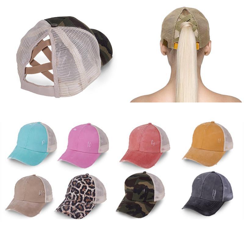 New Baseball Cap-cavalo Lavados socorro Cotton Sujo Bun Chapéus para mulheres Snapback Caps Casual Verão Sun Visor exterior Hat KY0731