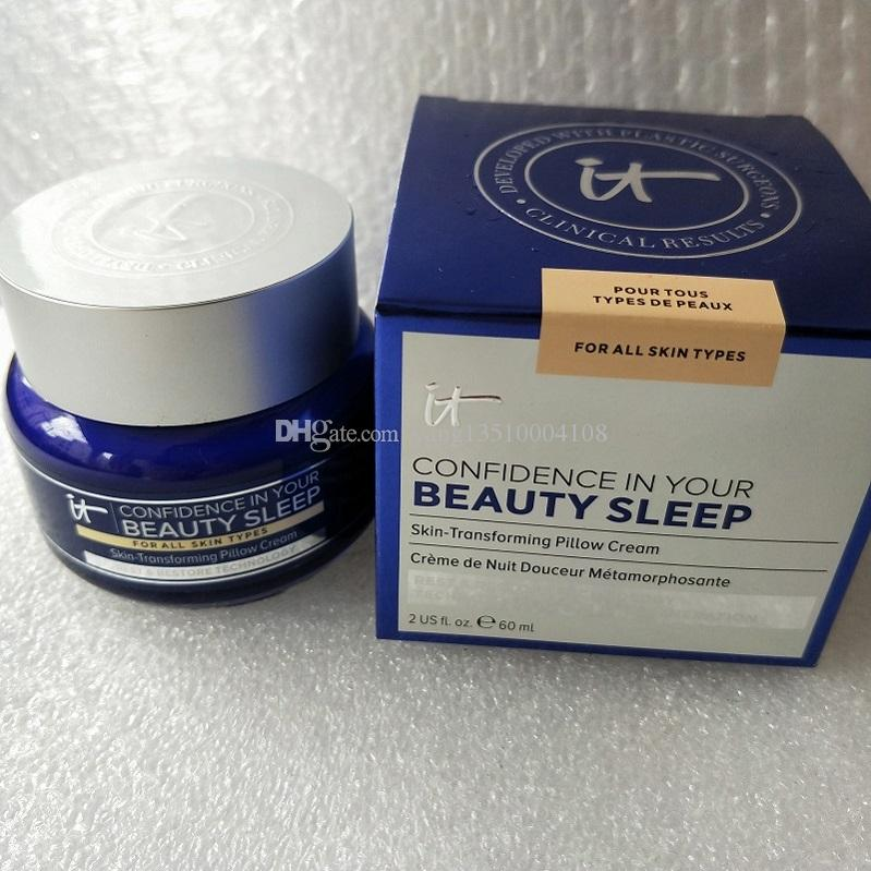 جديد ماركة ماكياج الثقة في جمالكم النوم بشرة سادة وسادة كريم 60ML كريمات ترطيب شحن مجاني