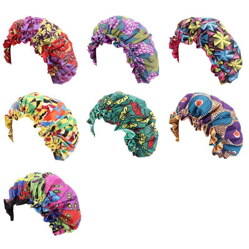 Nouvelle mode africaine Imprimer Stain Bonnet pour les enfants Les enfants de sommeil Cap Headwrap Nuit Hat Accessoires cheveux Wrap