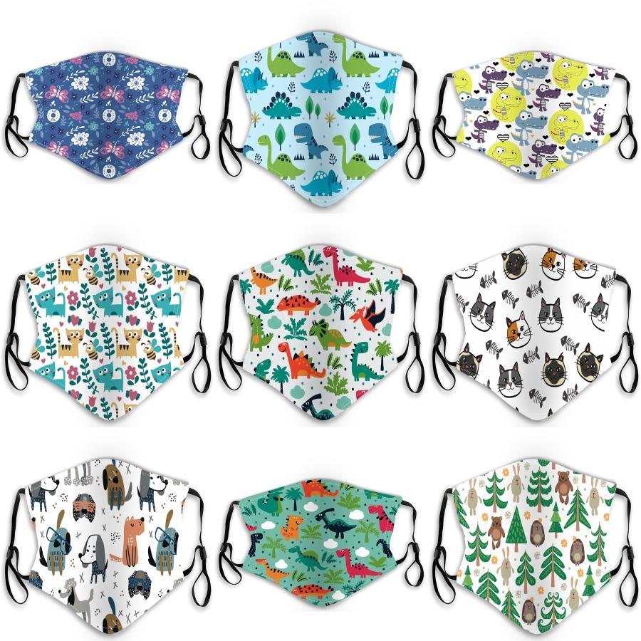 Schiff! Cloth Maskenfilter Breath Ventil Black Cotton Anti-Staub-Gesichtsmaske Schutzmaske Mode wiederverwendbare Gesichtsmasken für Kinder # 674