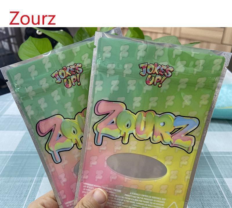 Şaka UP! Runtz Packaging Çanta İçin Kuru Ot Çiçek Zourz Mylar Çanta geçirmez çantalar 420 stand up kokusu kese 3.5g home2010 rJfUR