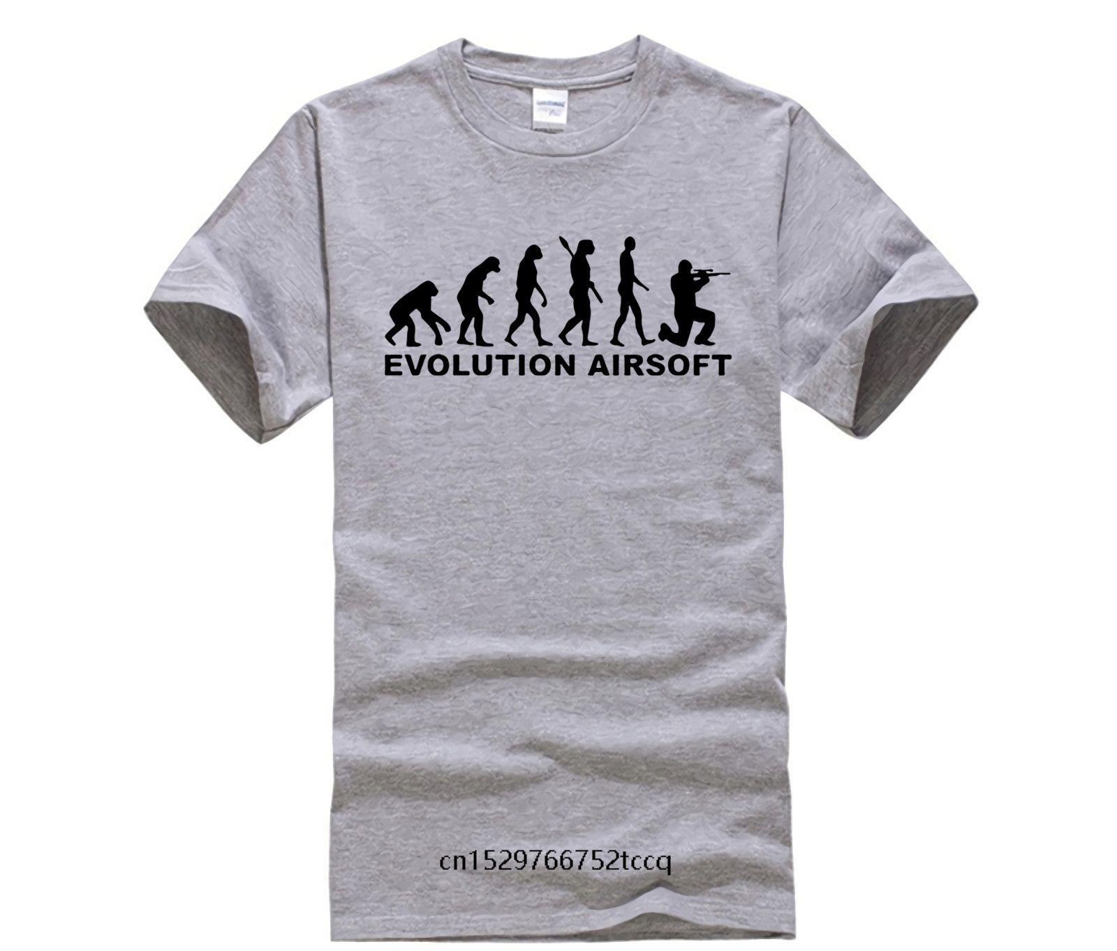 Evolução Airsoft Camiseta Para Casal Sleeve Men Moda Curto Moda Custom Camiseta