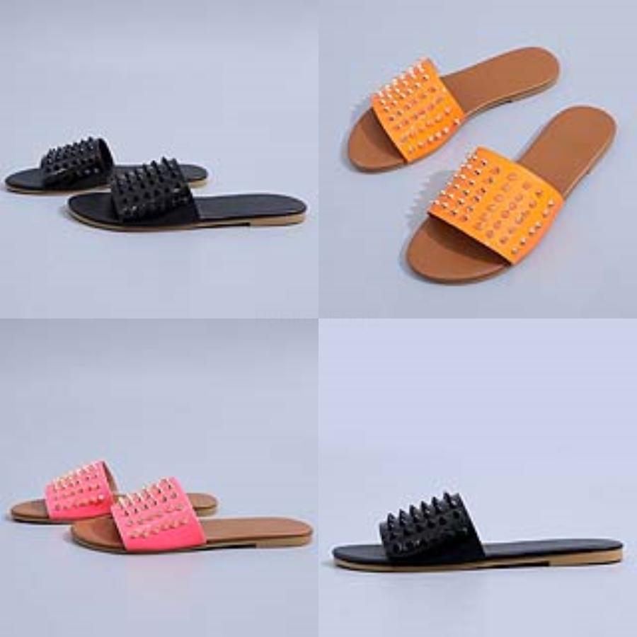 Ot Vendita- Suede Rivetti Strap Block anguilla SOE pantofole donne DENER Slides sandali dimensioni da 35 a 40 T61 # 795 # 846