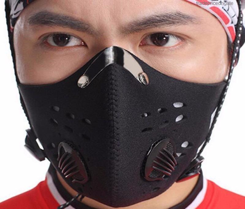 Griglia Sport Anti Outdoor nebbia e foschia PM2.5 in bicicletta formazione delle donne degli uomini maschera antipolvere anti-inquinamento Filtro al carbone attivo
