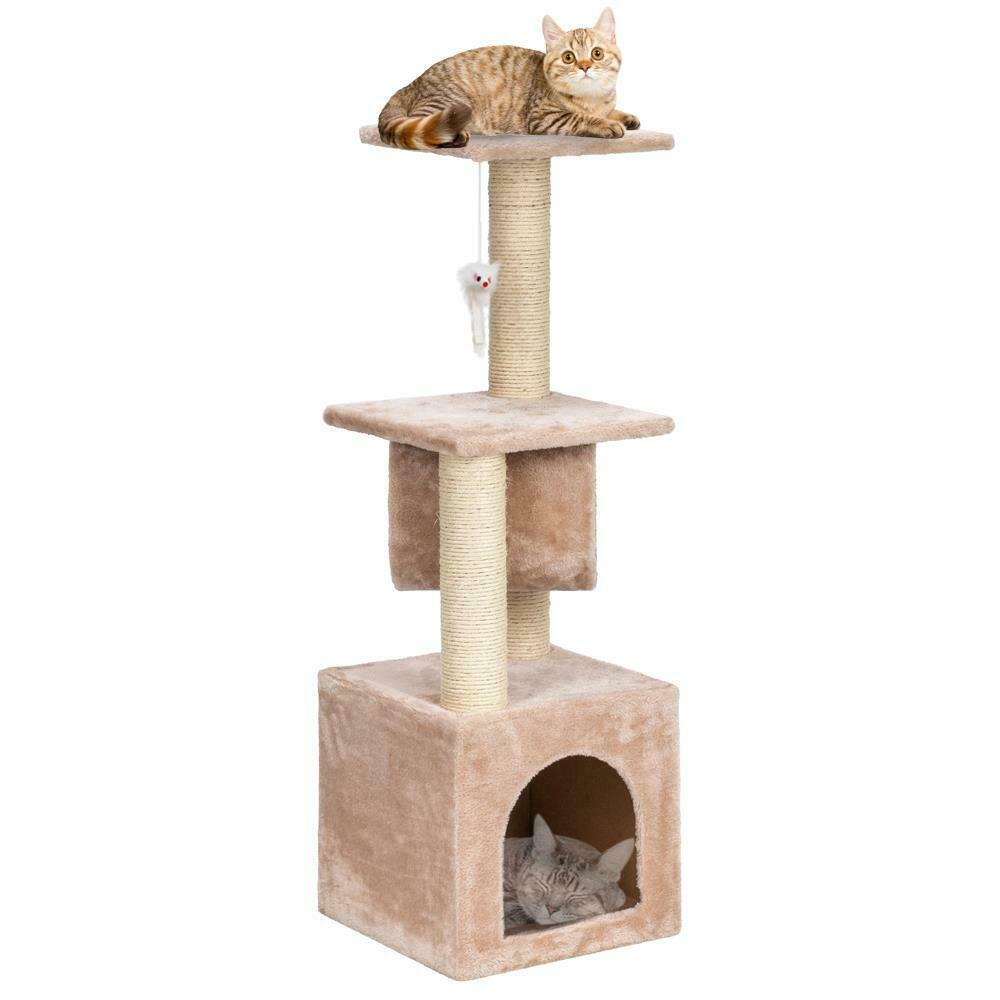2021 36 Cat Tree Bed Furniture Scratching Tower Post Condo Kitten Pet House Beige From Luluge998 26 68 Dhgate Com