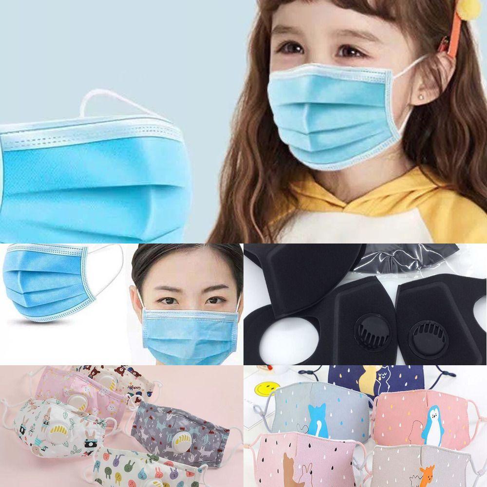 5 katman yıkanabilir filtre yeniden kullanılabilir yetişkin Çocuk toz geçirmez MLY8 duman Vana Havalandırma Face Maske