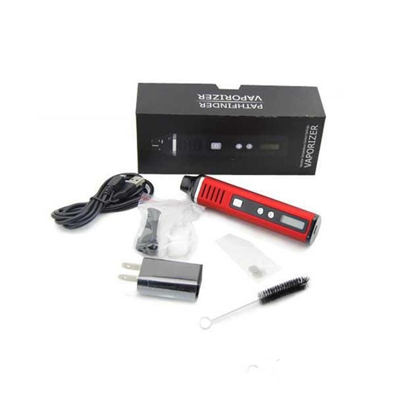 De calidad superior en seco de hierbas vaporizador Pathfinder V2 vaporizador Plumas 2200mAh de batería con pantalla LCD de temperatura Control de E cigarrillos Starter Kit