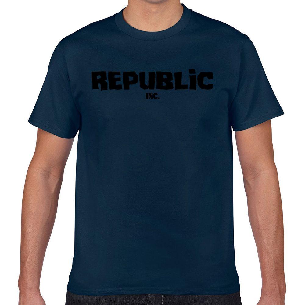 Tops T-Shirt Männer Republik inc Kleidung Street Kawaii Inschriften Aussenseiter Drucken Male T-Shirt XXX