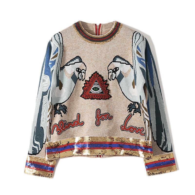 710 Envío Gratis 2020 Marca Mismo Estilo Período Regular Cuello Cuello largo Kint Suéter Sweater Suéter Qian