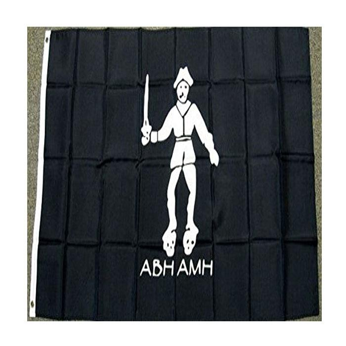 Black Flag Bart Pirate Abh Amh Bartholome Drapeau Double Stitched Drapeau 3x5 FT Bannière 90x150cm Élection Cadeau 100D Polyester imprimé chaud de vente!
