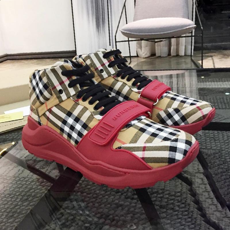 Chaussures de mode pour les hommes lacées en daim et néoprène -Top Chaussures de sport en plein air d'été plat Chaussures Londres Luxe Chaussures Hommes Casual Fast Ship