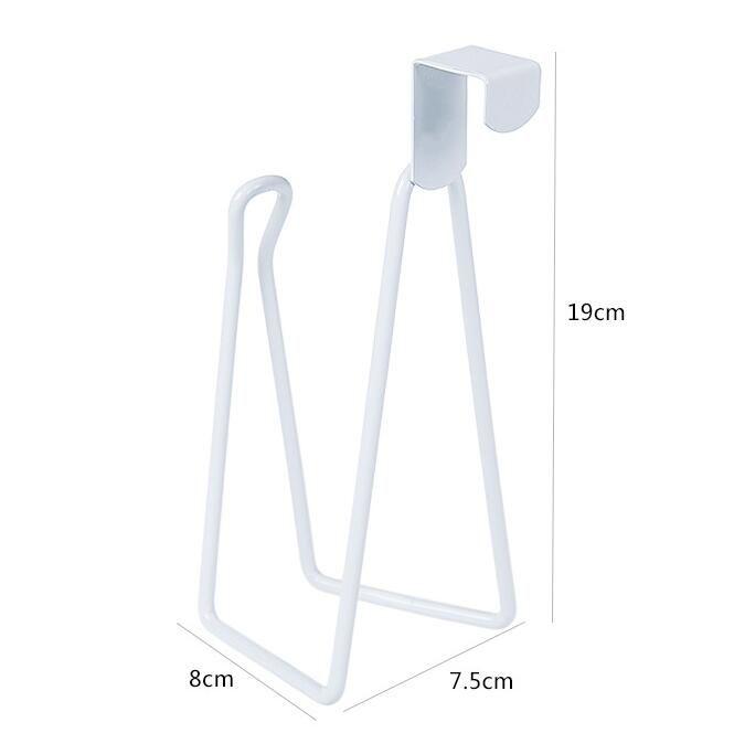 Puerta-back titular de baño toalla de papel higiénico titular de bobinas de papel de tejido de hierro