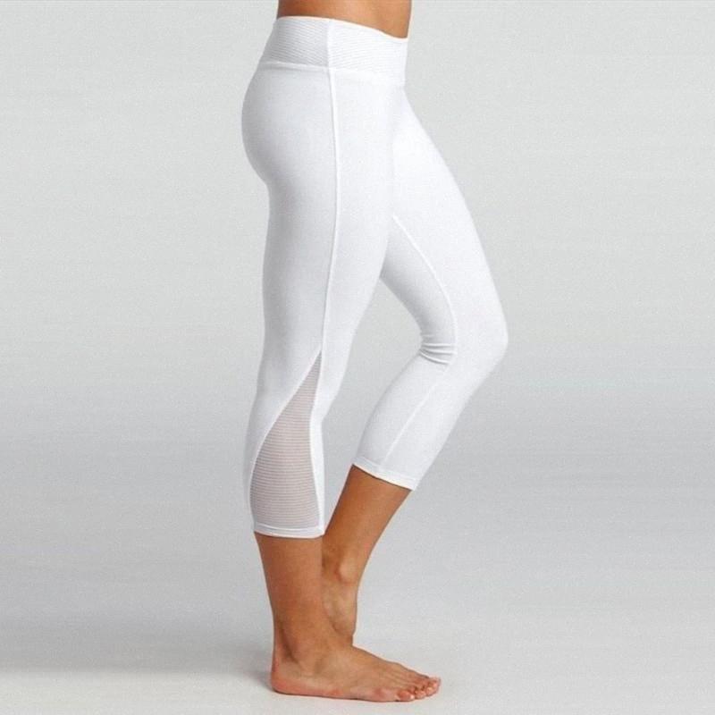 Frauen Sport Fitness-Gamaschen-Hosen-elastische Hip Yoga Laufhose Tights Sport Leggings Gym für Mädchen Plus Size Leggins Mujer aJgW #
