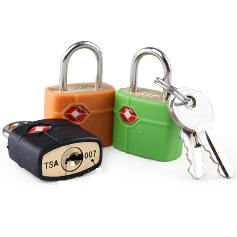 Wholesale Outdoor Travel Luggage Suitcase Mini Brass Padlock TSA Customs Lock Travel Travel Lock Door Locks Random Colors DH0357