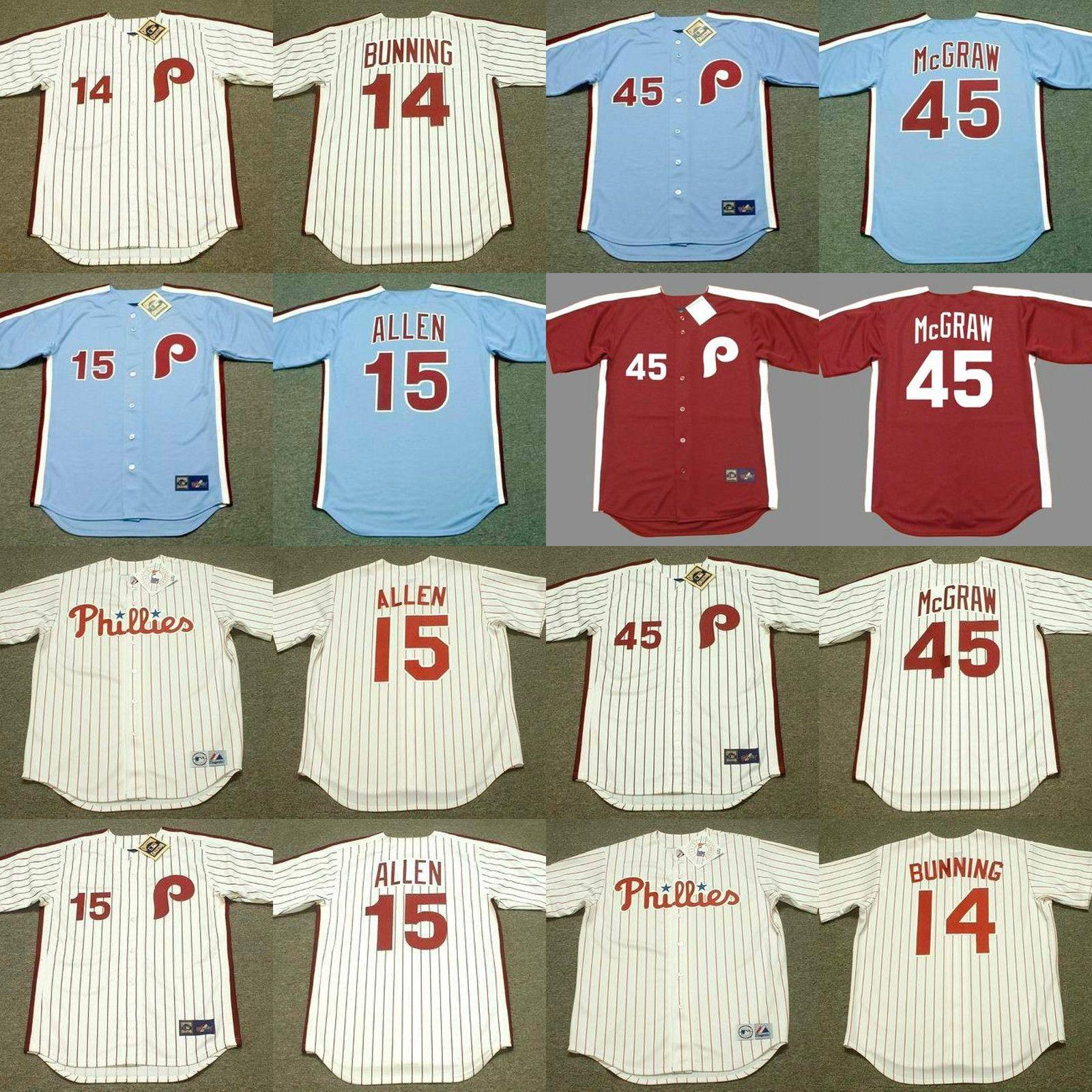 Philadelphia 45 Tug McGraw 11 TIM mccarver 30 DAVE CASH 39 JIM KAAT 41 Jim Lonborg 14 Jim Bunning 15 RICHIE ALLEN jérsei de basebol