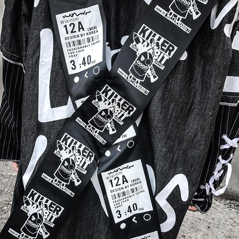 oh1uW 2019 de primavera y otoño de los hombres de mediana duración rompevientos gabardina personalizada decoración de la cinta cruz anillo de metal sueltas de la capa encapuchada Fash