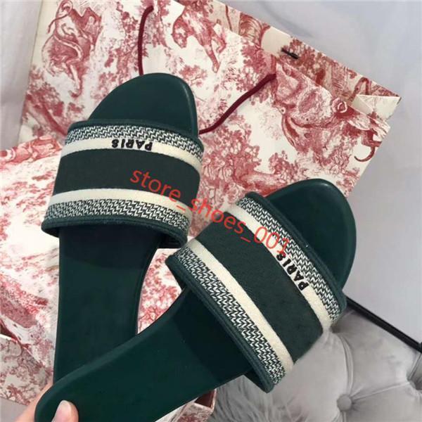 Paris Lüks Tasarımcı çizikleri Hococal Terlik Yaz Sandalet Terlik Kızlar Flop'lar Loafers Vintage İşlemeli Çiçek Terlik çevirin Slide