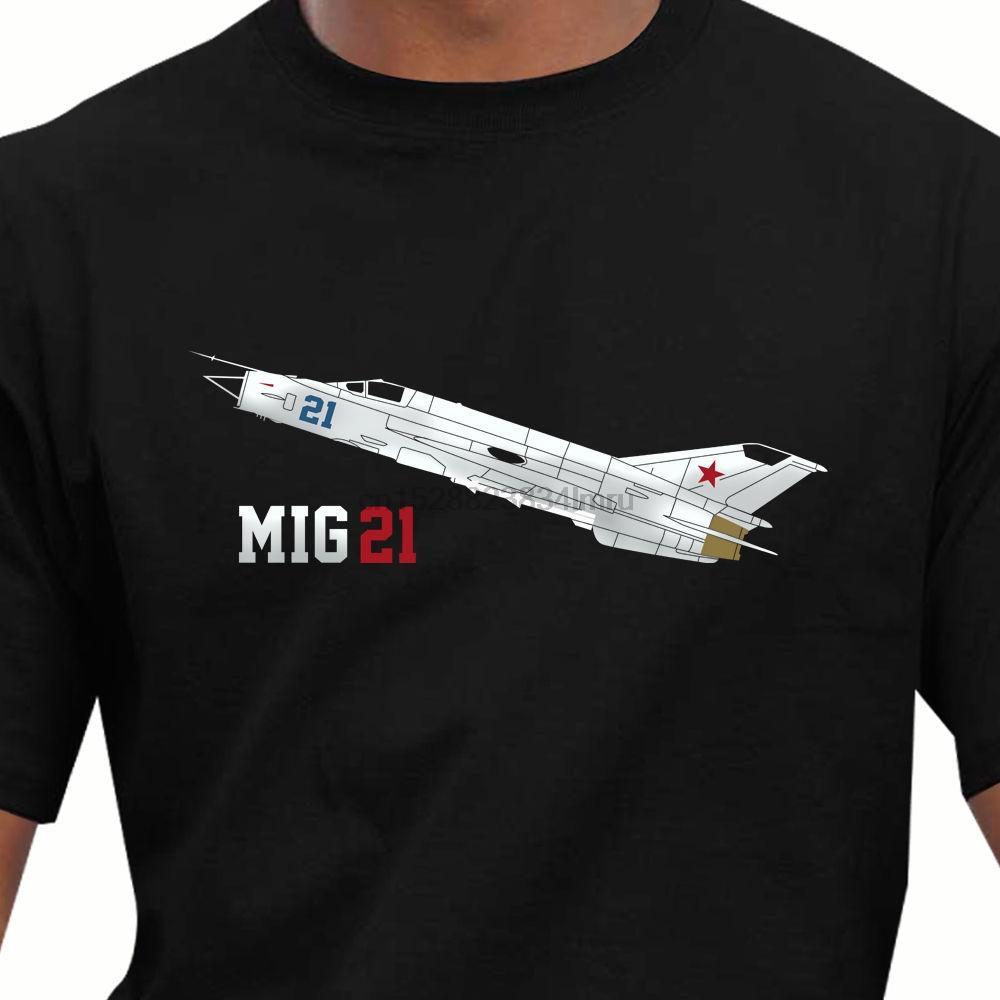 2020 Hot Vente 100% Aéro MiG 21 Avion T-shirt de style d'été T-shirt