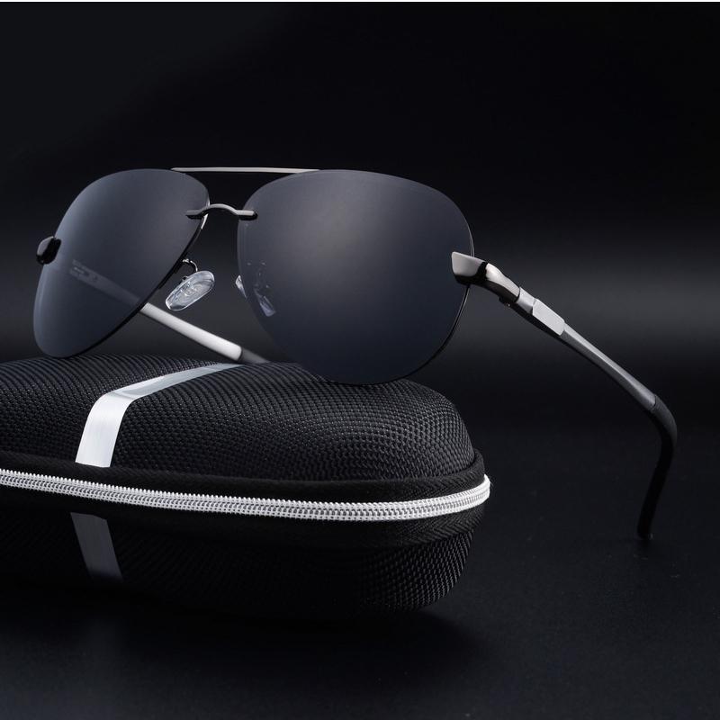 Çerçevesiz Polarize Sürüş Güneş Meatl Çerçeve Erkekler ile Kutusu T200106 İçin Mavi Ayna UV400 Güneş