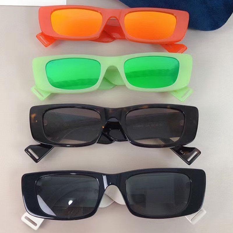 Новый 0516 Солнцезащитные очки для женщин мужчин Специальные УФ-защиты женщин Дизайнер Урожай небольшой площади кадра 0516S Солнцезащитные очки Верхнее качество