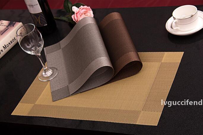 Avrupa Amerika popüler diyagonal rectngle çerçeve Batı tarzı yiyecek PVC yastıkları ev restoran dekorasyonu için dost antiskid eco paspaslar