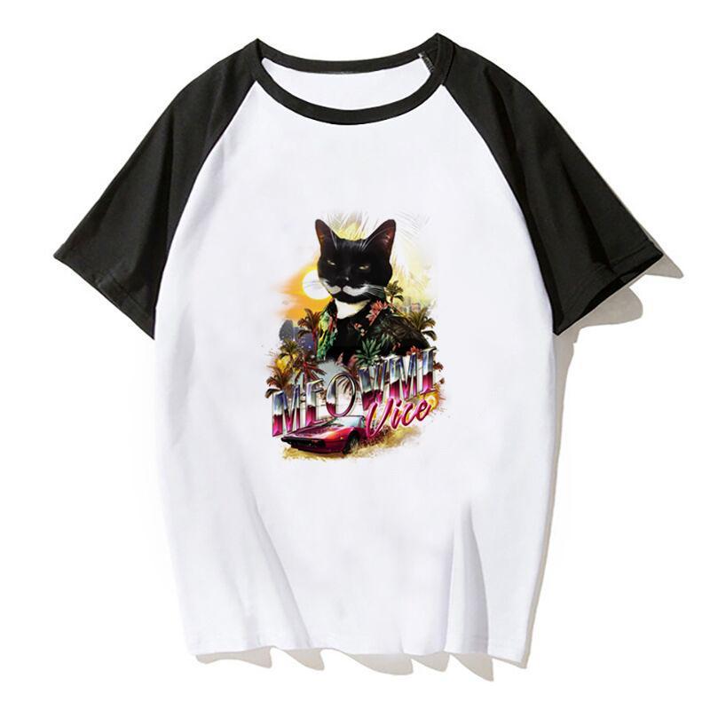 Meowmi Yardımcısı Tişört Büyük Boy Estetik Tees Gömlek Kadınlar Moda Tumblr Ulzzang Erkekler Tişört Gotik Shirt
