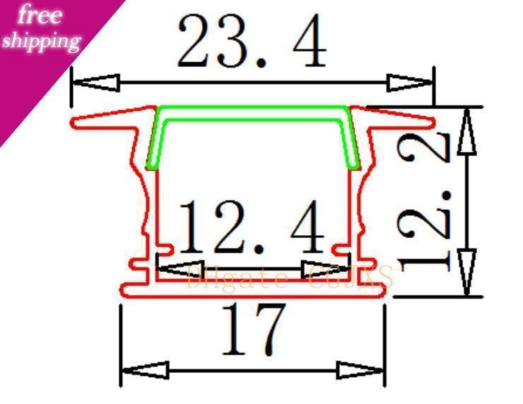 Frete grátis 2m / Pcs preço de fábrica Led Extrusão de Alumínio Perfil Para Led Tiras 2835/5050/5630/7020 Led Perfil de alumínio