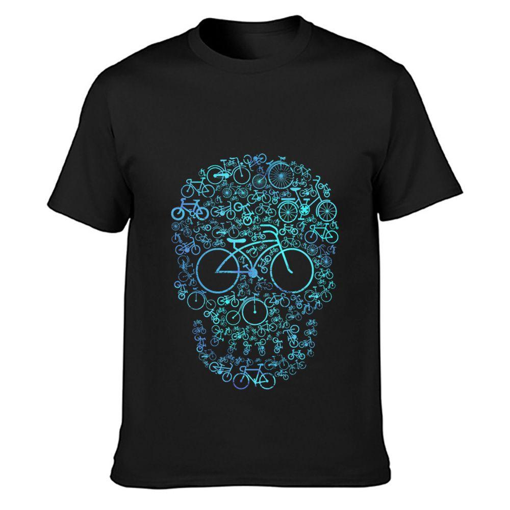 regalo de la bicicleta deportista camiseta diseño de moda camiseta de cuello redondo camisa de la familia de la novedad Fit Primavera Otoño