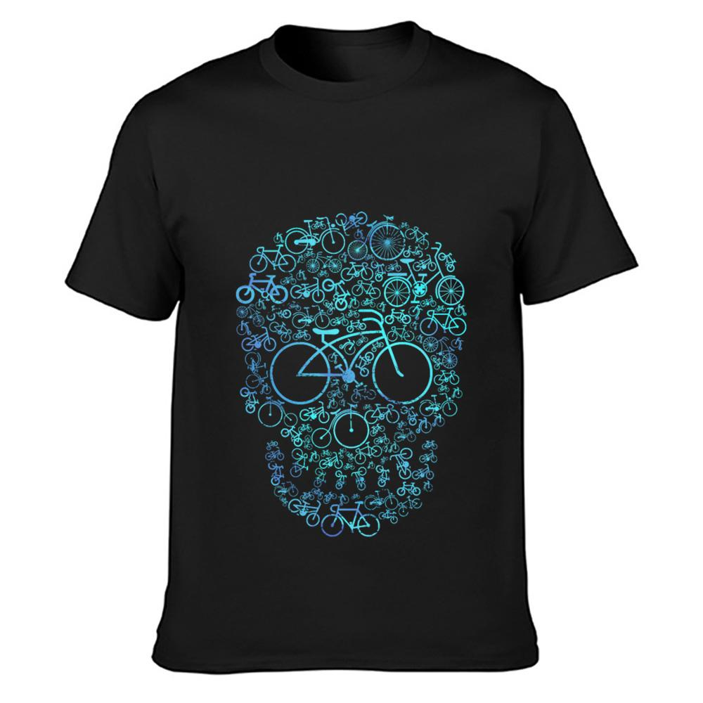 Designing presente bicicleta camisa desportista t moda camiseta gola redonda camisa da família novidade Fit Primavera Outono