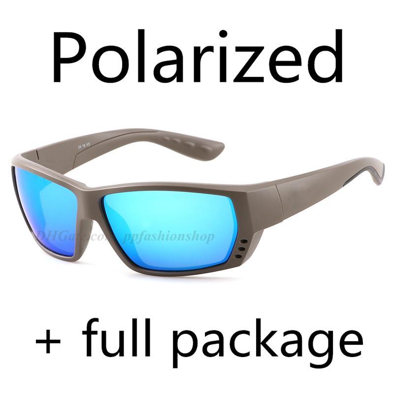 Nouveaux Ta Sunglasses polarisées Pêche de la mer Verres de surf 9 Couleur Blue Eva Box Tissu Kraft Paper Box Sticker 8 pièces