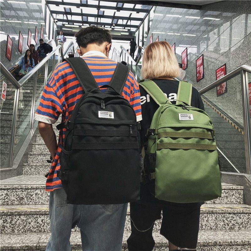 Bolso de las mujeres impermeables Estudiantes de los pares mochila grande Campus de la capacidad de los hombres de secundaria mochila 2019 Nueva ins mochila