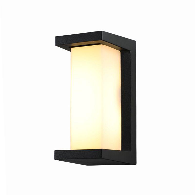 야외 벽 램프 방수 마당 외벽 빌라 테라스 발코니 게이트 빛 야외 주도 유도 벽 램프 슈퍼 밝은 10202