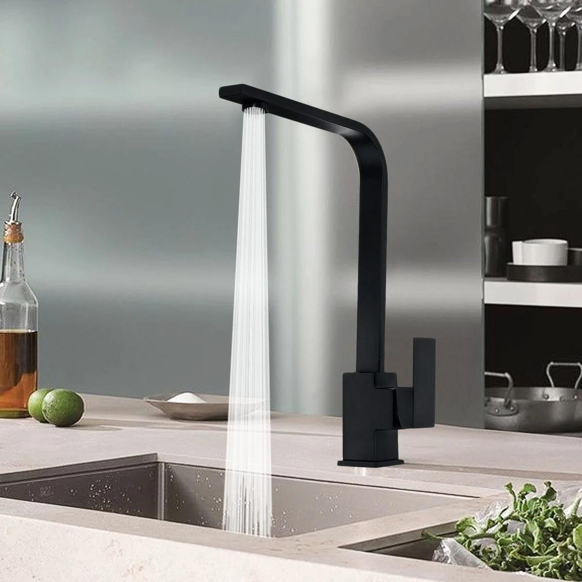 2021 Modern Black Kitchen Sink Taps Mixer Tap Single Lever Basin Brass Mono Faucet From Lightingledworld 42 21 Dhgate Com