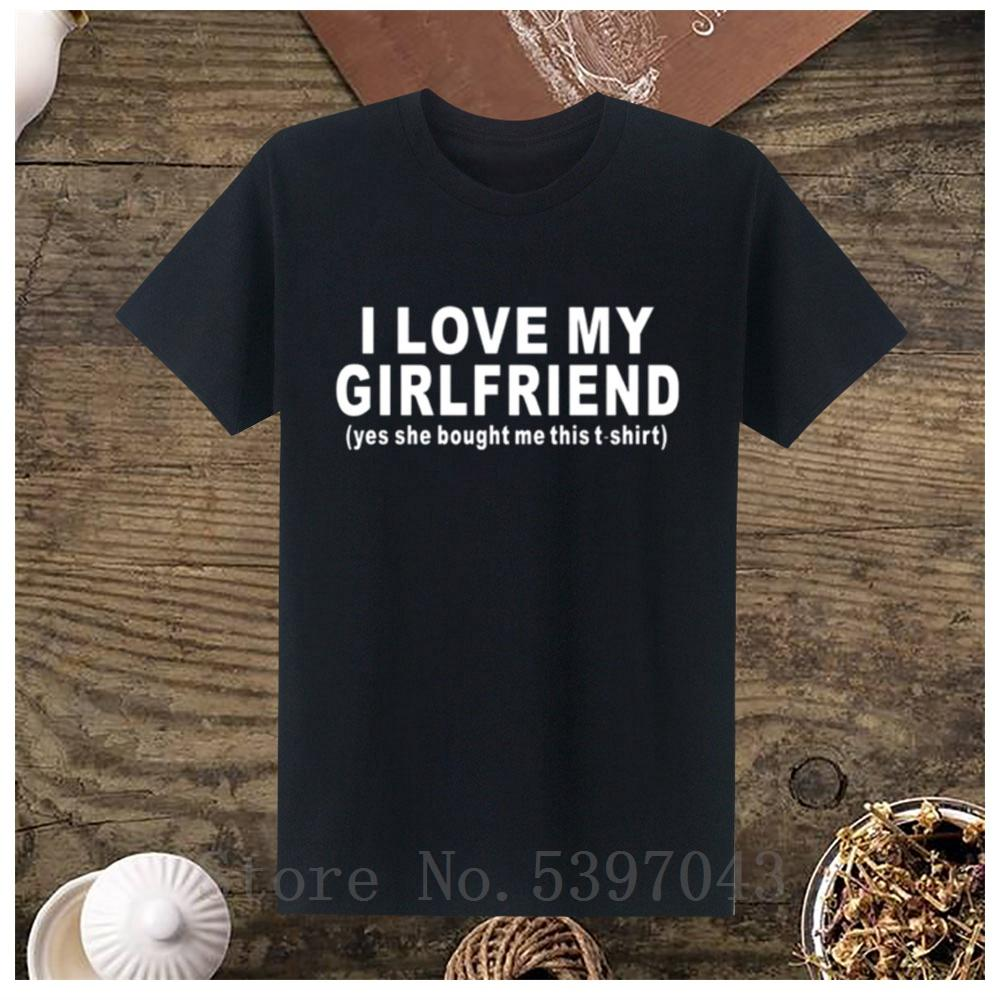 2019 Nouveau Je aime mon amie Mode manches courtes pour hommes T-shirts boyfriend cadeau drôle 100% coton T-shirts Taille S-5XL Imprimé