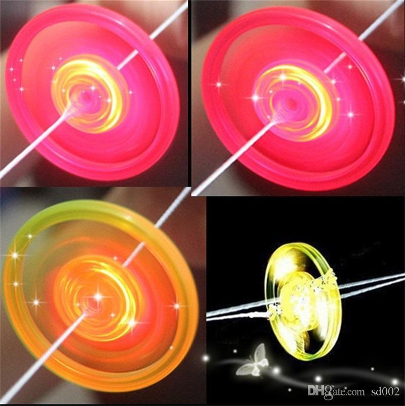 Flying Saucer Glow Toys Led Luminous Flywheel Toy Flashing Light Up Whistle For Children Party Gifts For Kid 0 43sc dd