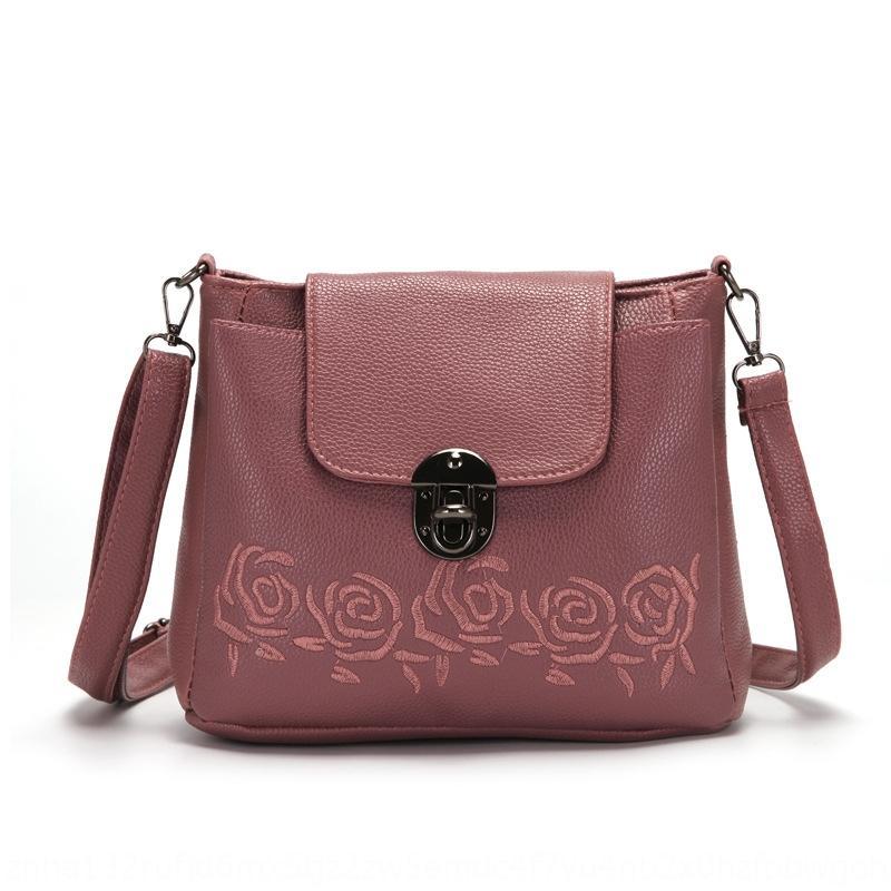 h7vJ6 2020 nuovo messaggero stile coreano PU secchio spalla postino borsa postino benna delle donne spalla alla moda di grande capacità ricamato