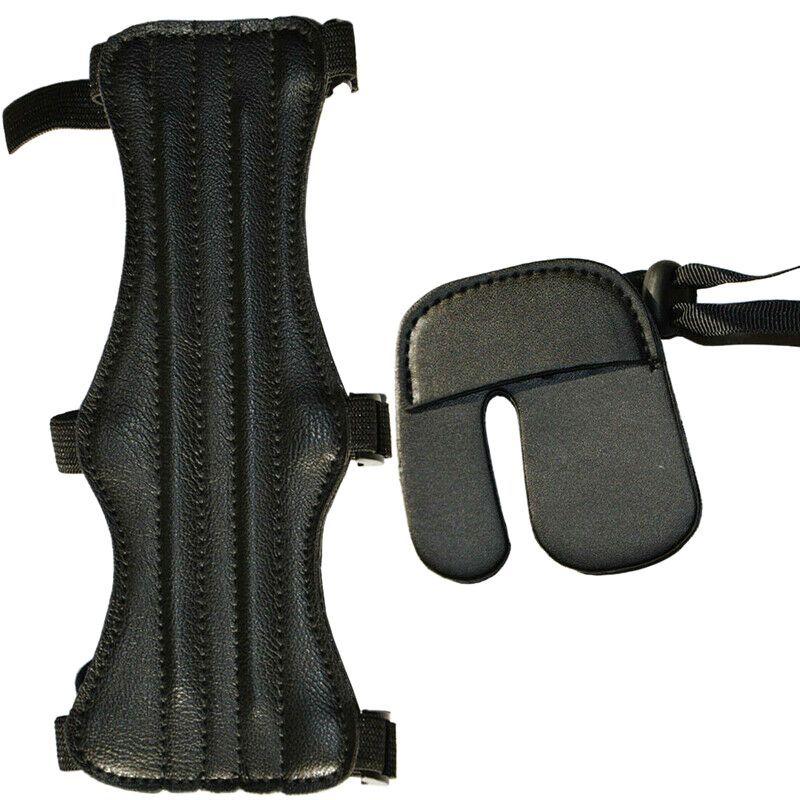 Finger Leather Protector durevole di alta qualità braccio di protezione Tiro con l'arco Ingranaggio protettivo manica Sport Accessori