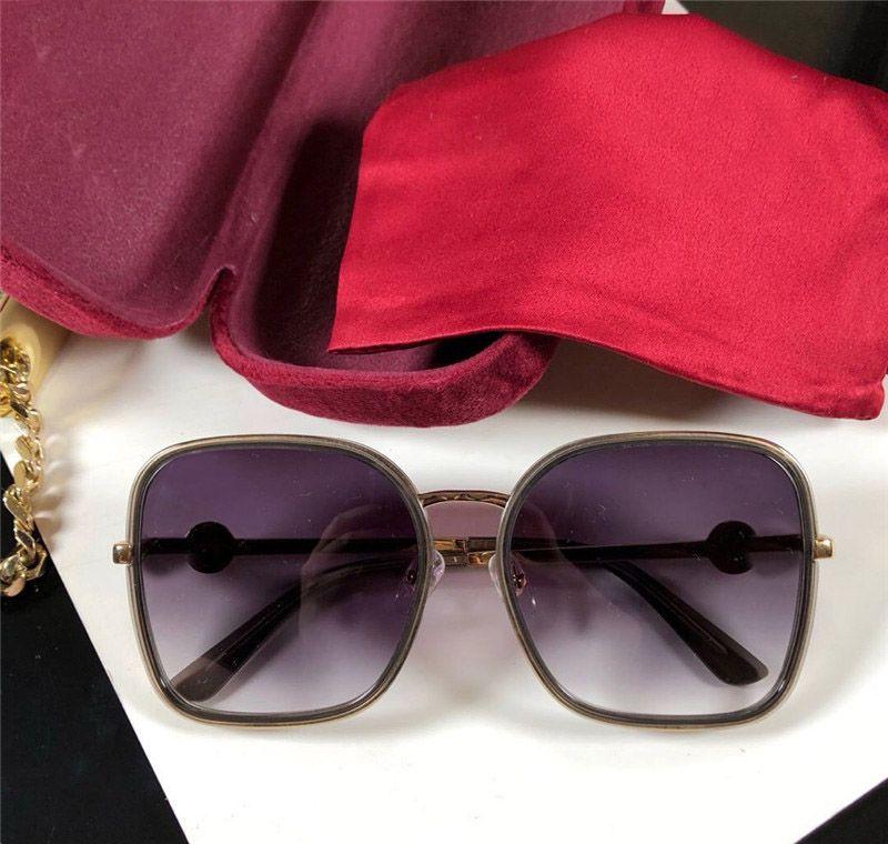 2020 Le nouveau concepteur de mode lunettes de soleil style populaire 8128 cadre carré pour l'homme et femmes qui vendent des lunettes de qualité supérieure de protection UV400
