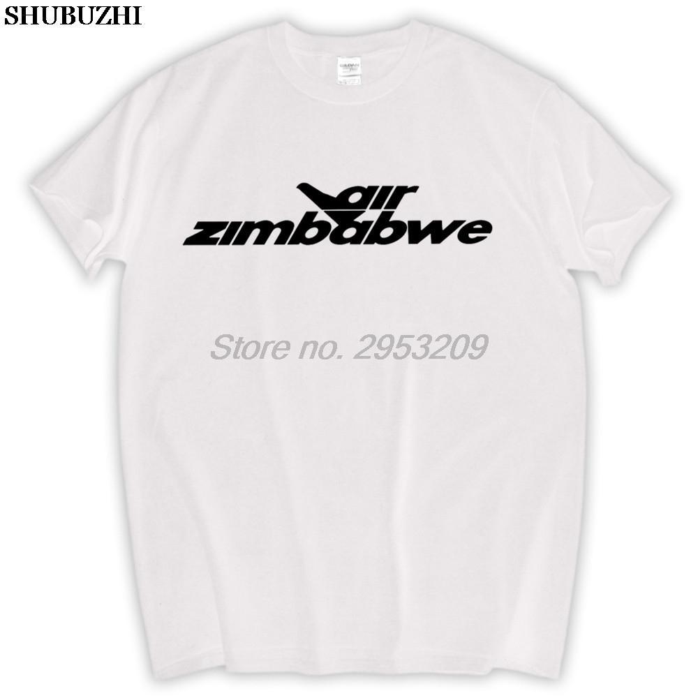 Унисекс Air Зимбабве Vintage Logo зимбабвийских Авиакомпания Авиация T-Shirt shubuzhi размер бренда евро футболка