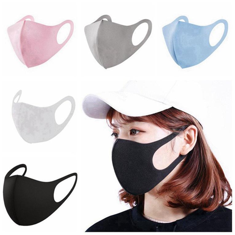 Аксессуары для моды против пыли лица крышка ртом PM2.5 маска респиратор пылезащитный антибактериальный моющийся многоразовый шелковый шелковый хлопок 1000 шт.