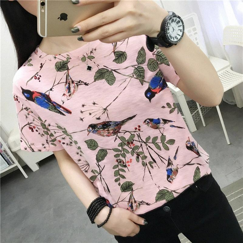 of student's short sleeve T-shirt female ins wet web celebrity in 2020, the new wind super fire half sleeve port nPSx#