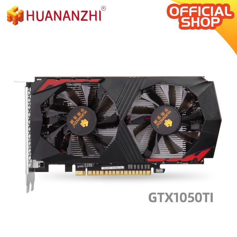 HUANANZHI GTX 1050TI 4G Grafikkarte 128Bit GDDR5 HDMI DVI DP 14Nm 768nits Video Car