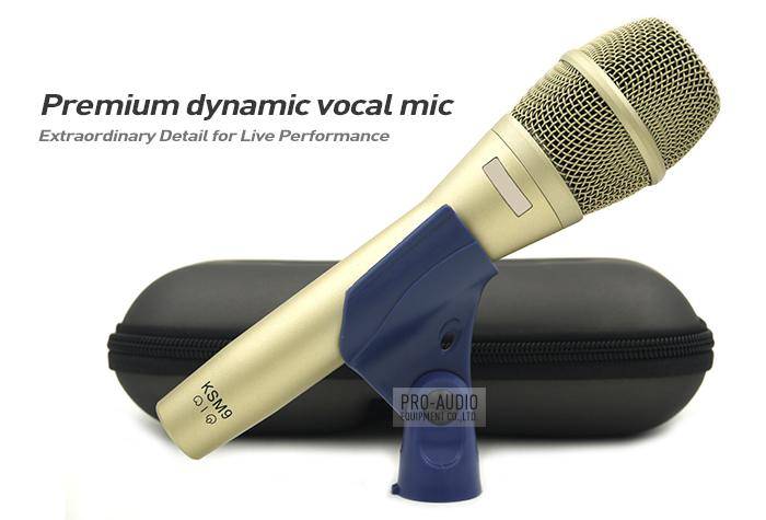 2pcs / lot Special Edition KSM9 Professional CHANT dynamique Wired Microphone Karaoke Supercardioïde Podcast Microfono Mike Mic