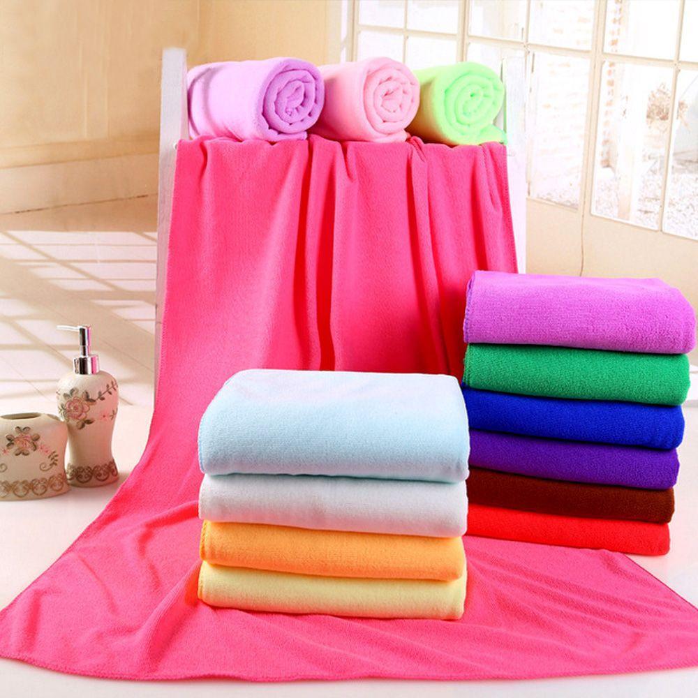 70cm * 140cm de microfibra toalla de secado rápido ducha paño de limpieza de playa toalla del recorrido Toallita Ducha