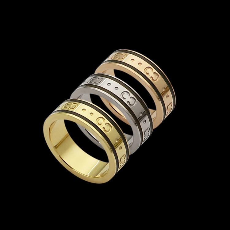 New 2020 Luxurious quality punk band ring with words design for women and man engagement jewelry gift