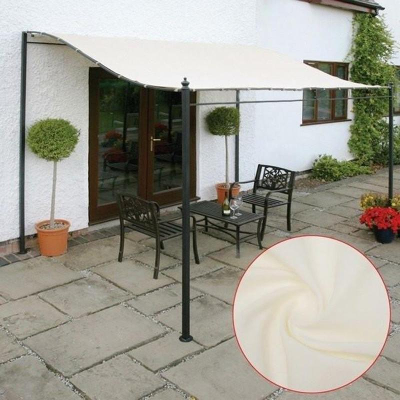300D Außen Dach Ersatz-Segeltuch-Abdeckung wasserdichtes Zelt Gazebo Top Canopy Sun Shelter Stoff Patio Markisentuch