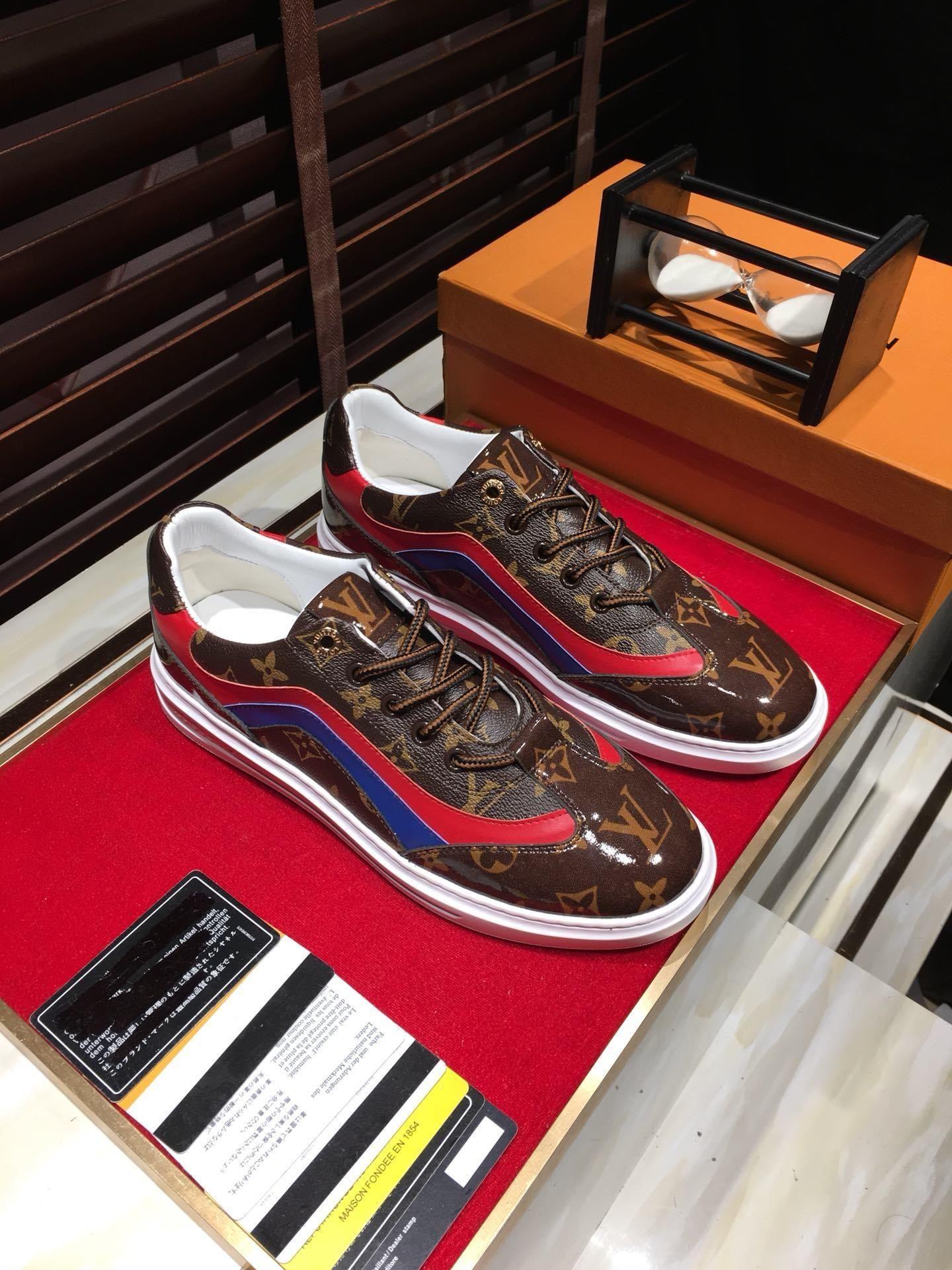 2020-2019h ограниченного издания кожи мужской повседневная обувь, мода дикой спортивная обувь, оригинальная упаковка обувь коробка, размер: 38-44
