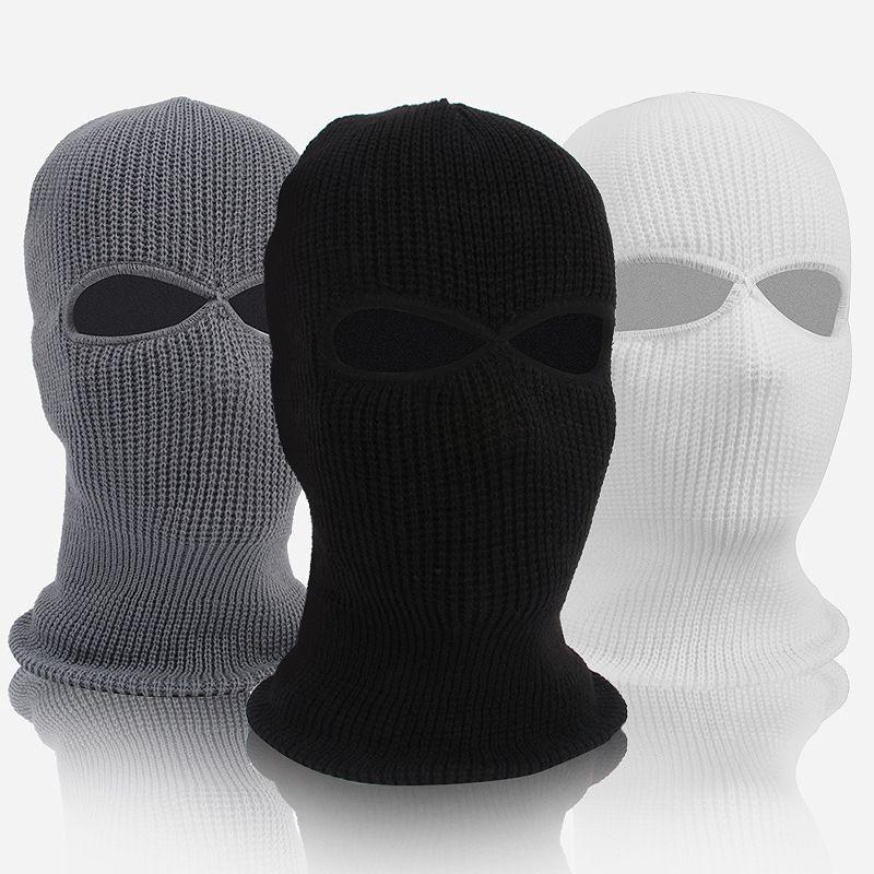 2020 Yeni Delik Bisiklet maske rüzgar ve sıcak kaput açık polar CS şapka kış spor malzemeleri kayak Kış Kar Beanie Hat